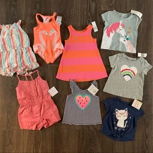 NWT 8 Piece Baby Girl Bundle, Size 12-18 Months